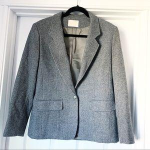 Vintage Pendleton Wool Gray Tweed Blazer